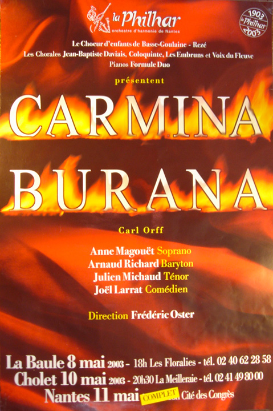 """Carmina Burana"" de Carl Orff [05-2003]"