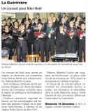 Un concert pour fêter Noël [Ouest France Dimanche  18-12-2016]