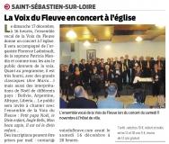 Les Voix du Fleuve en concert à l'église [Presse Océan 13-12-2017]