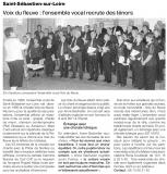 Voix du Fleuve : l'ensemble vocal recrute des ténors [Ouest France  19-07-2010]