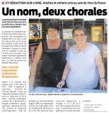 Un nom, deux chorales [Presse Océan  13-09-2016]