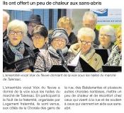 Ils ont offert un peu de chaleur aux sans-abris [Ouest France  19-12-2016]