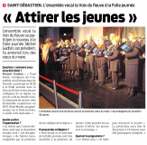 L'Ensemble vocal Voix du Fleuve à la Folle Journée - Attirer les jeunes [Presse Océan 23-01-2019]